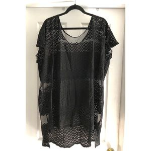 Free People Black mesh tunic
